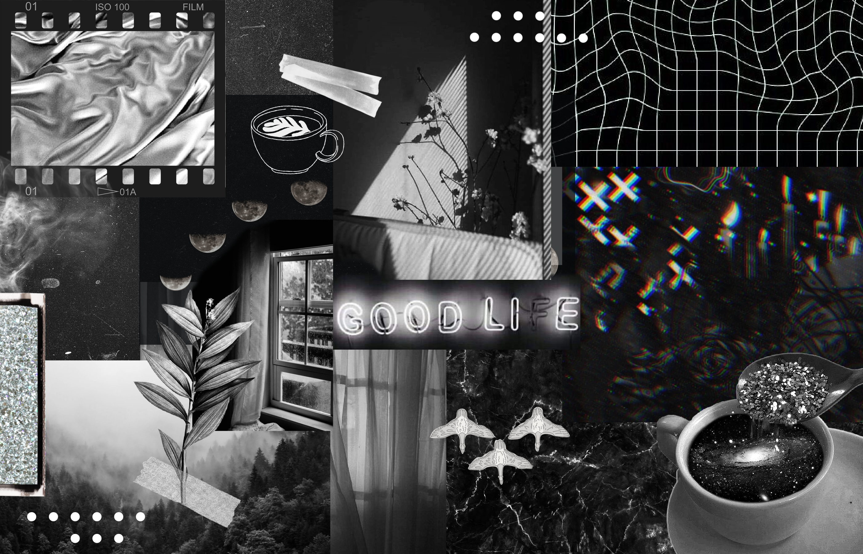 macbook black aesthetic collage background screensaver free