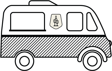 Illustration of the Tastings Vintage Wine Truck