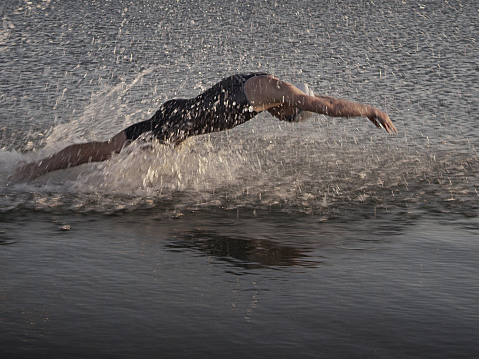 Triathlete Swimming