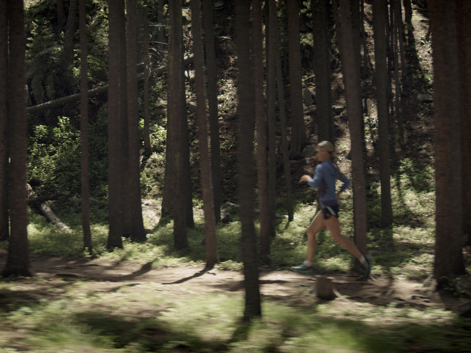 Trail Runner in a Forest