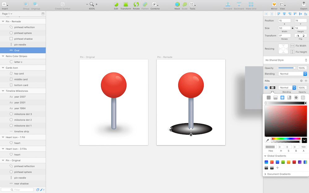 Screenshot: Adapting Sketch layers for SVG compatibility