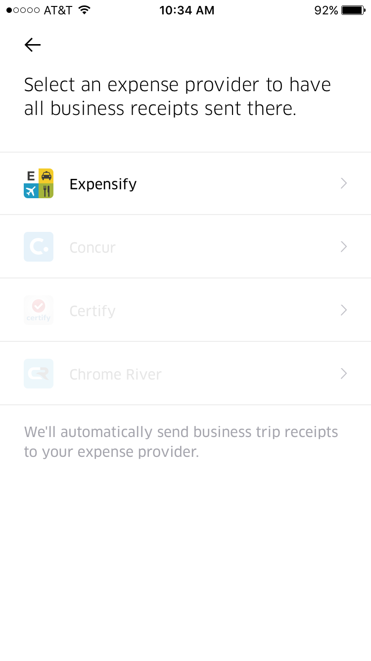 Expensify manage your business travel expenses with expensify uber spiritdancerdesigns Choice Image