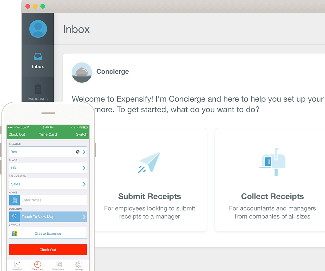 expensify tsheets integration linking expenses to time sheets