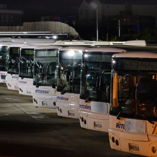 Ritchies has a fleet of over a 1000 buses in New Zealand