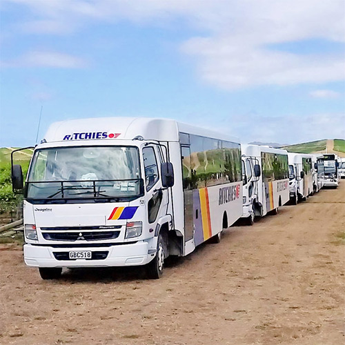 Ritchies can provide specialist vehicles for different destinations or group types