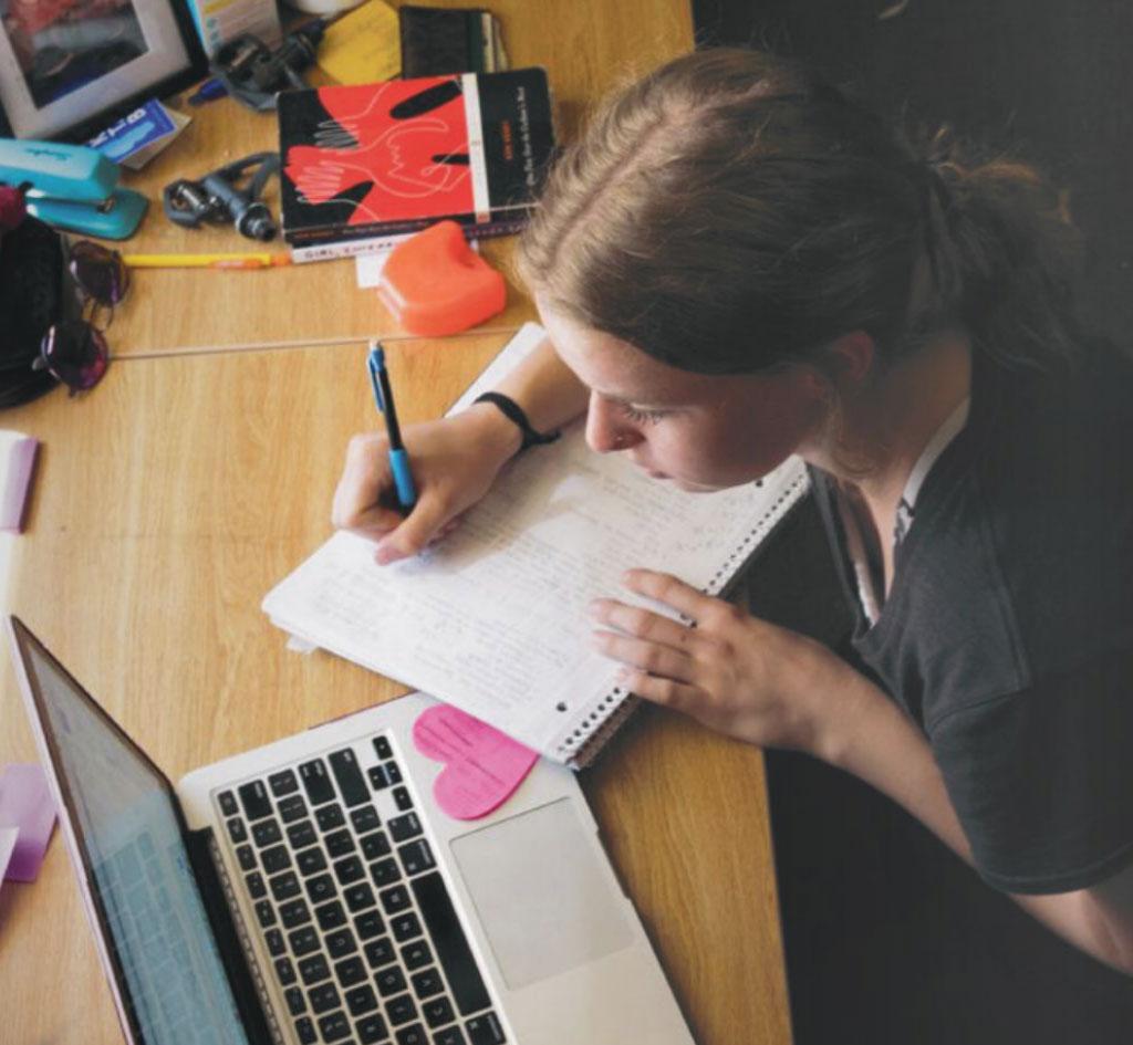 SBA Student Studying