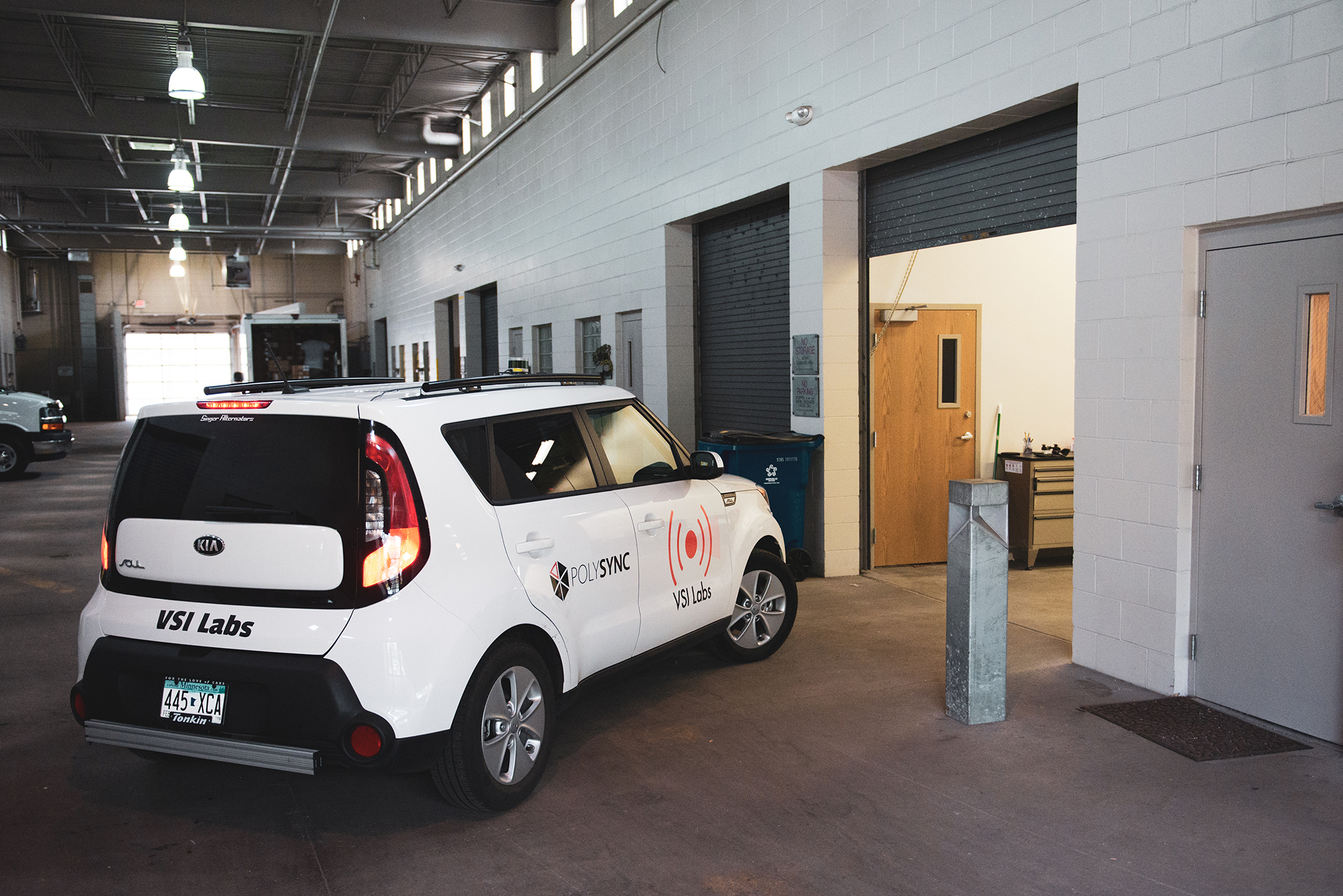 PolySync-enabled vehicle at VSI's laboratory in St. Louis Park, MN.