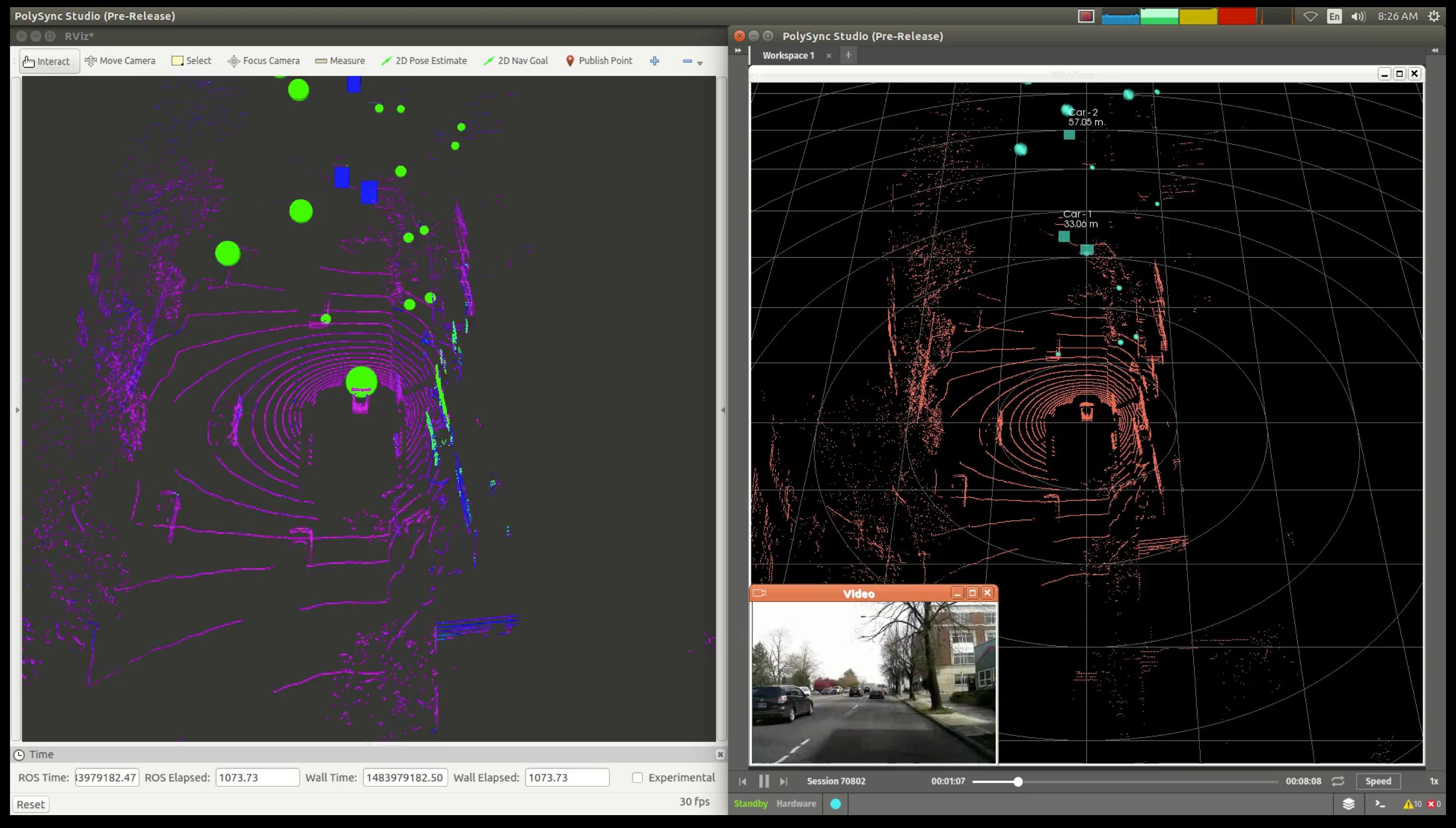 ROS and Core Studio playing PolySync data
