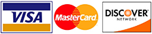 Visa, MasterCard, and Discover Card Logos