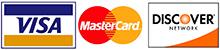 Visa, MasterCard, and Discover Card Logos