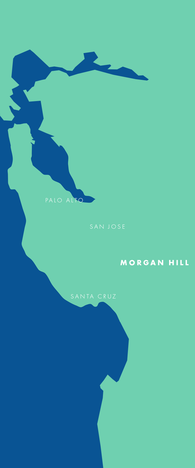 Map showing Morgan Hill's location in Silicon Valley