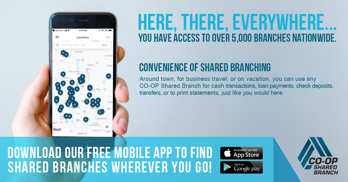 Find shared branches wherever you go!