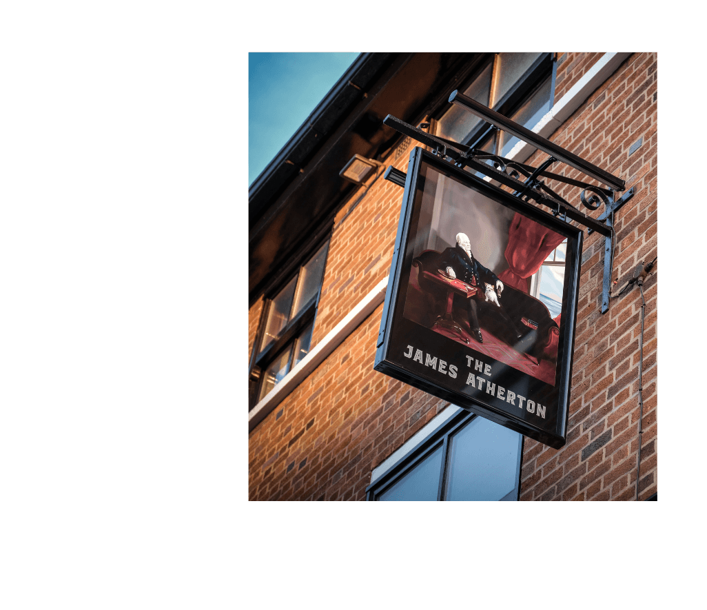 The James Atherton pub sign