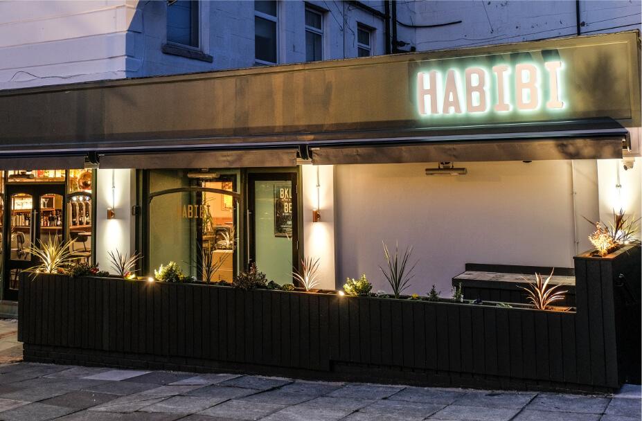 Interior of Habibi restaurant